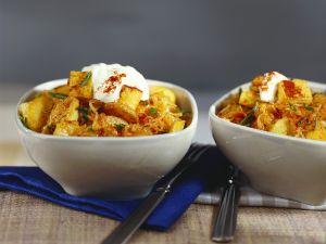 Tofu-Gulasch mit Sauerkraut Rezept